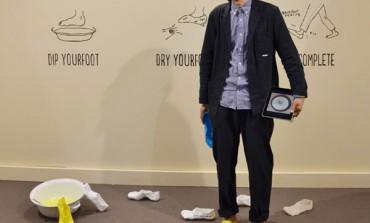 Satsuki Ohata e le scarpe 'ad 'immersione'
