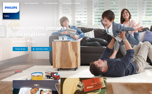 Philips - Sito web