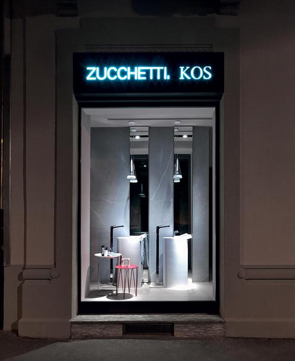 primo showroom a milano per zucchetti kos pambianco