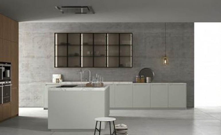 Doimo Cucine Spa. Kitchen Top And Doors Made Of Fenix Ntm Beige ...