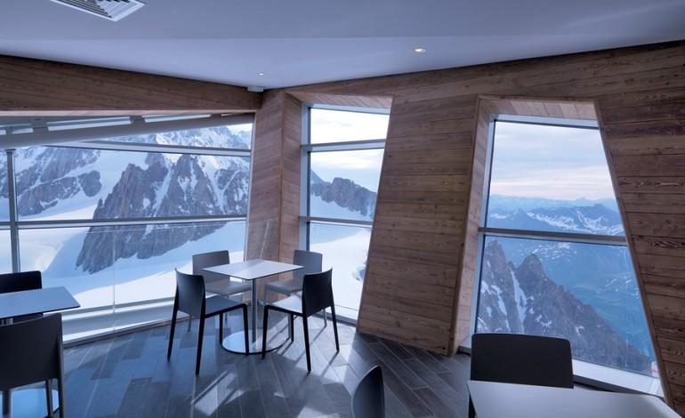 Pedrali in funivia sul Monte Bianco