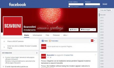 Scavolini è top design brand su Facebook