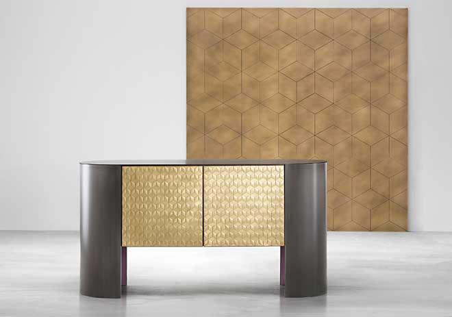 De Castelli e il mosaico metallico
