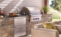 Frigo 2000 outdoor con barbecue e scaldavivande