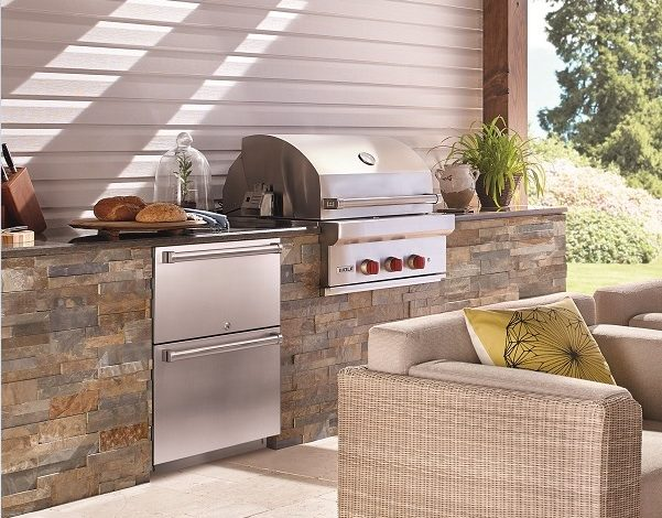 Frigo 2000 outdoor con barbecue e scaldavivande