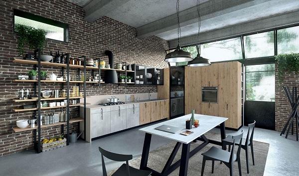 Stile industriale per aran cucine pambianco design for Piani di garage in stile artigiano