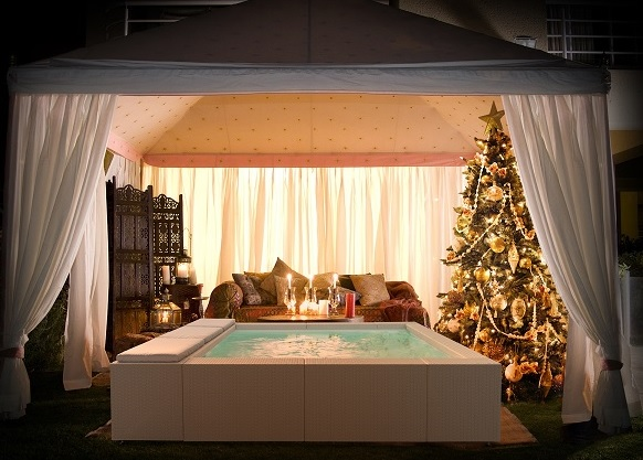 Piscine Laghetto, con Playa Living outdoor d'inverno