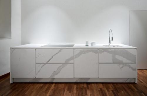 Laminam, effetto marmo in cucina – Pambianco Design