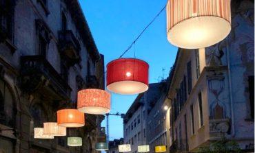 Fazzini, installazione di luci a Gallarate