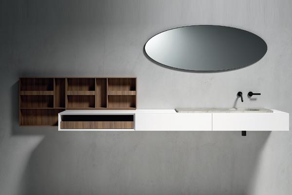 Il living entra in bagno u pambianco design