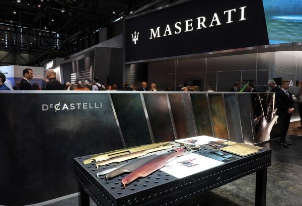De Castelli con Maserati per le plance della SQ4 Granlusso
