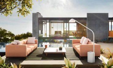 Il divano è componibile con Molo by Dordoni