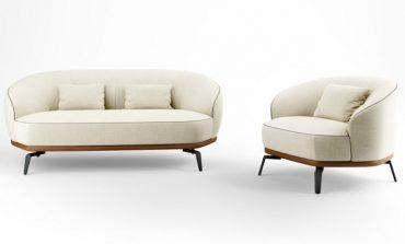 Giorgetti con Lazzeroni per il divano Tomino