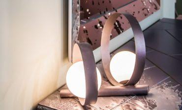 Bubble oro rosa, lampada gioiello per Riflessi