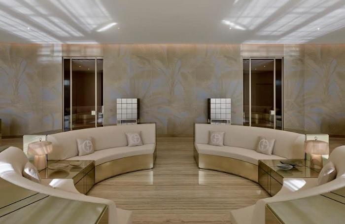 Gruppo Armani a Miami con interior design