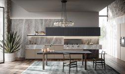 Cucina e living coordinati con Line 2020 di Zampieri
