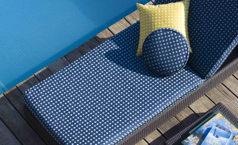 I nuovi tessuti in&outdoor di Rubelli giocano con la geometria