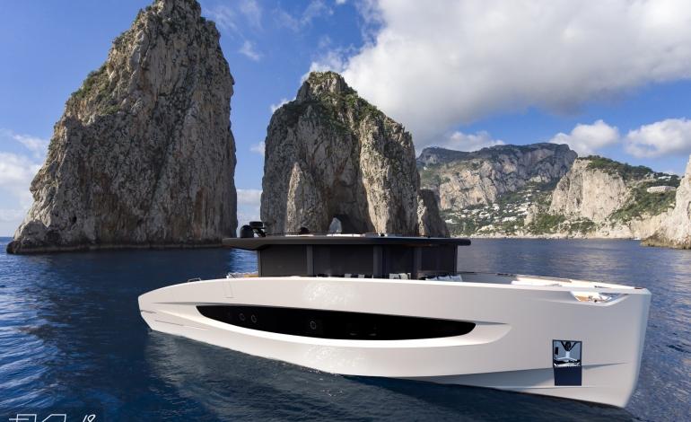 Tra vela e nautica a motore, Evo V8 di Evo Yachts